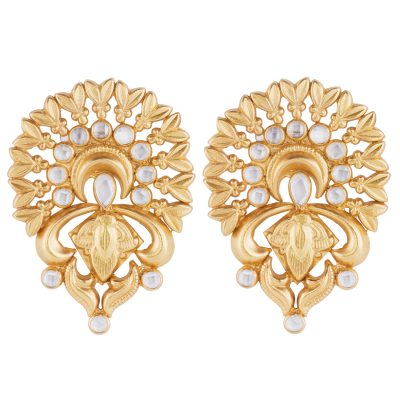 Classic Crystal Fan Detail Earrings-0