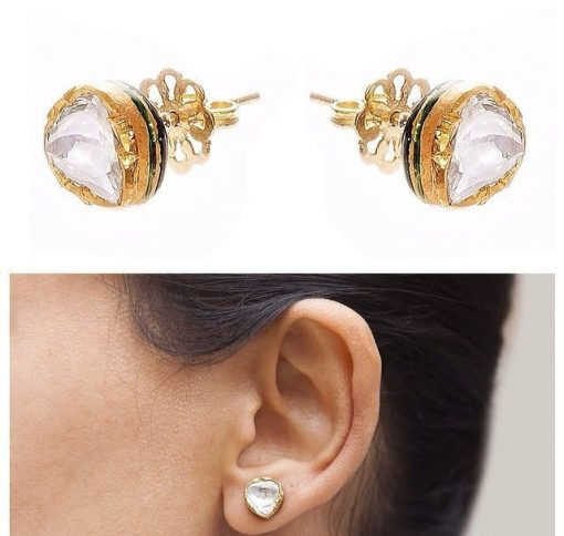 Heirloom Classic Raw Sliced Diamond Stud Earrings