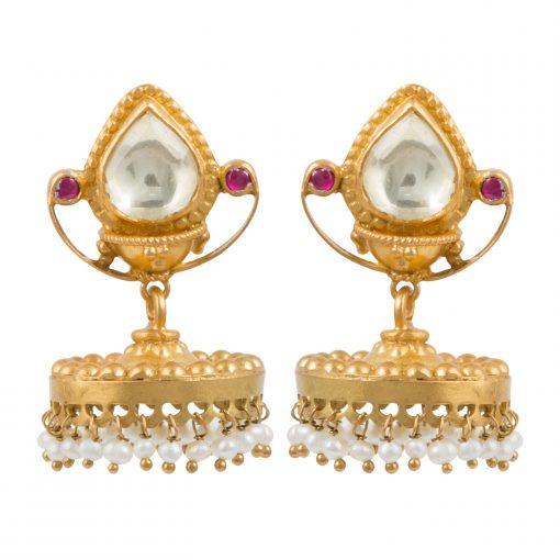 Heritage Pearl Bell Earrings