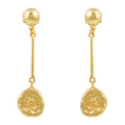 Elegant Hammered Drop Earrings