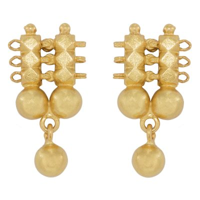 Simple Heritage Gold earrings