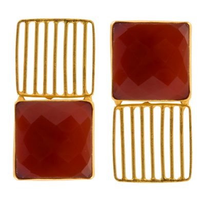 Red Onyx Good Luck Earrings