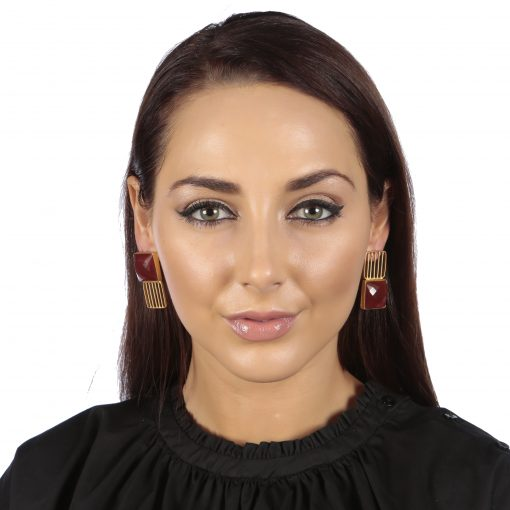 Red Onyx Good Luck Earrings
