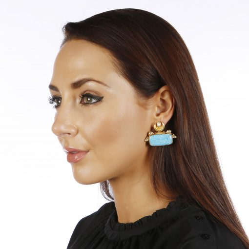 Heritage Turquoise and Pearl Earrings
