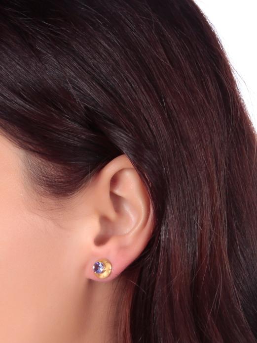 Classic Tanzanite Stud Earrings-809