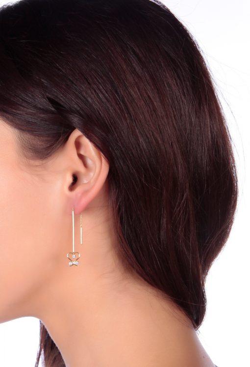 Dainty Diamond Drop Earrings-811
