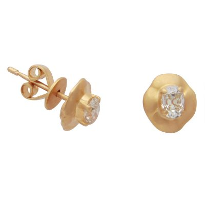 Classic Yellow Diamond Stud Earrings