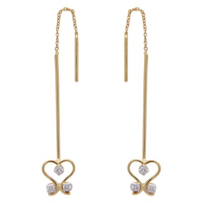 Dainty Diamond Drop Earrings-0
