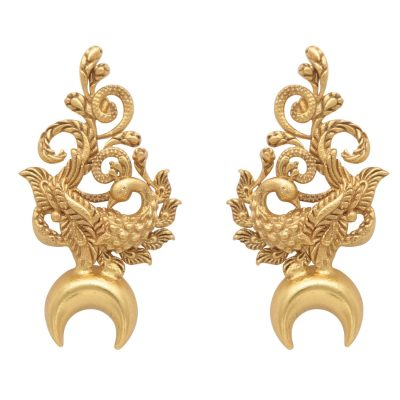 Heritage Peacock and Horse Shoe Good Luck Earrings-0