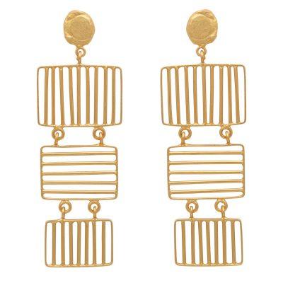 Fluid Grid Earrings-0