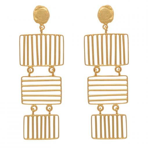 Fluid Grid Earrings-0