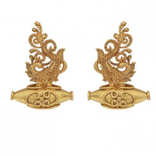 Heritage Peacock and Najar Bead Earrings-0