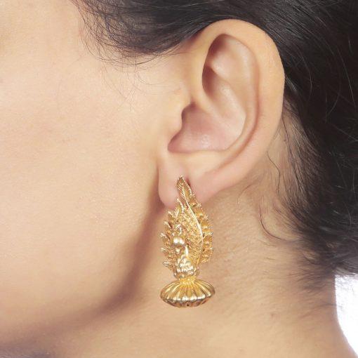 Heritage Stand Proud Peacock Earrings-822