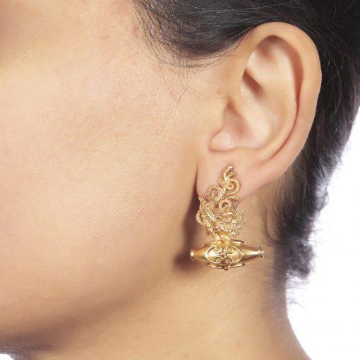 Heritage Peacock and Najar Bead Earrings-816