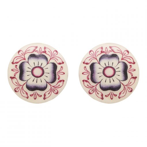 Art Deco Enamel Stud Earrings-0