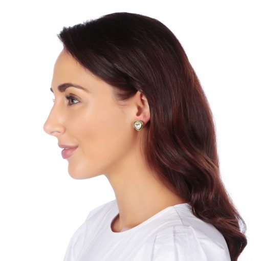Diamond and Emerald stud earrings